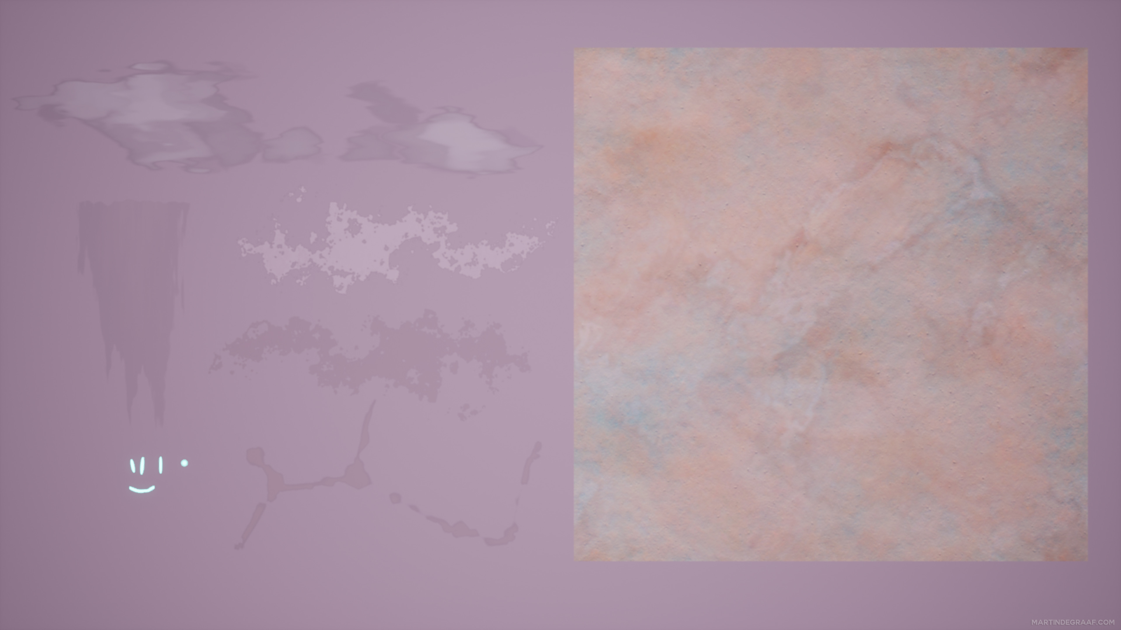 Decals / Tileable Material used for the Assets