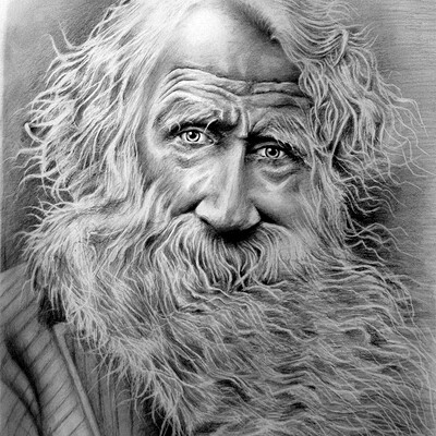 Waterlili2020 portrait of an old man