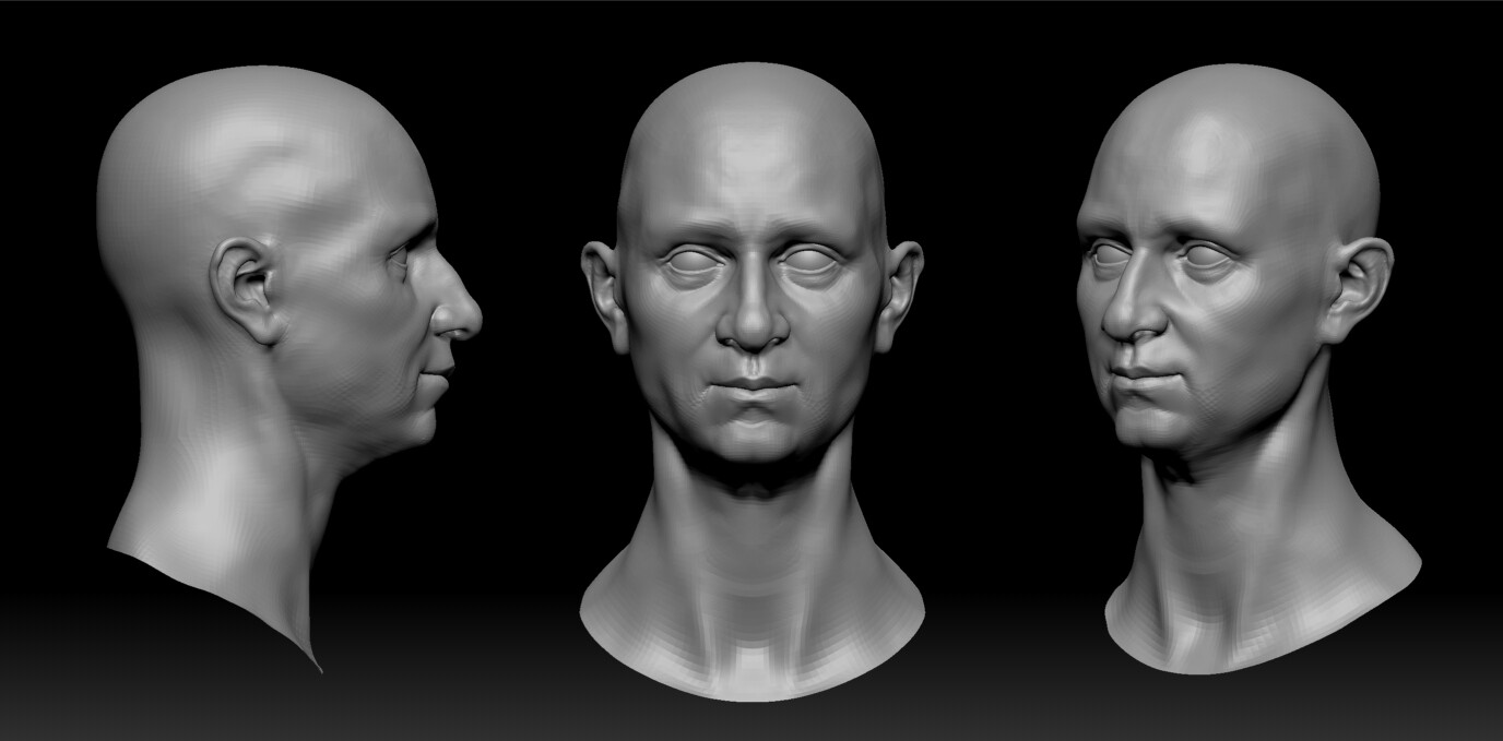 Zbrush head bust
