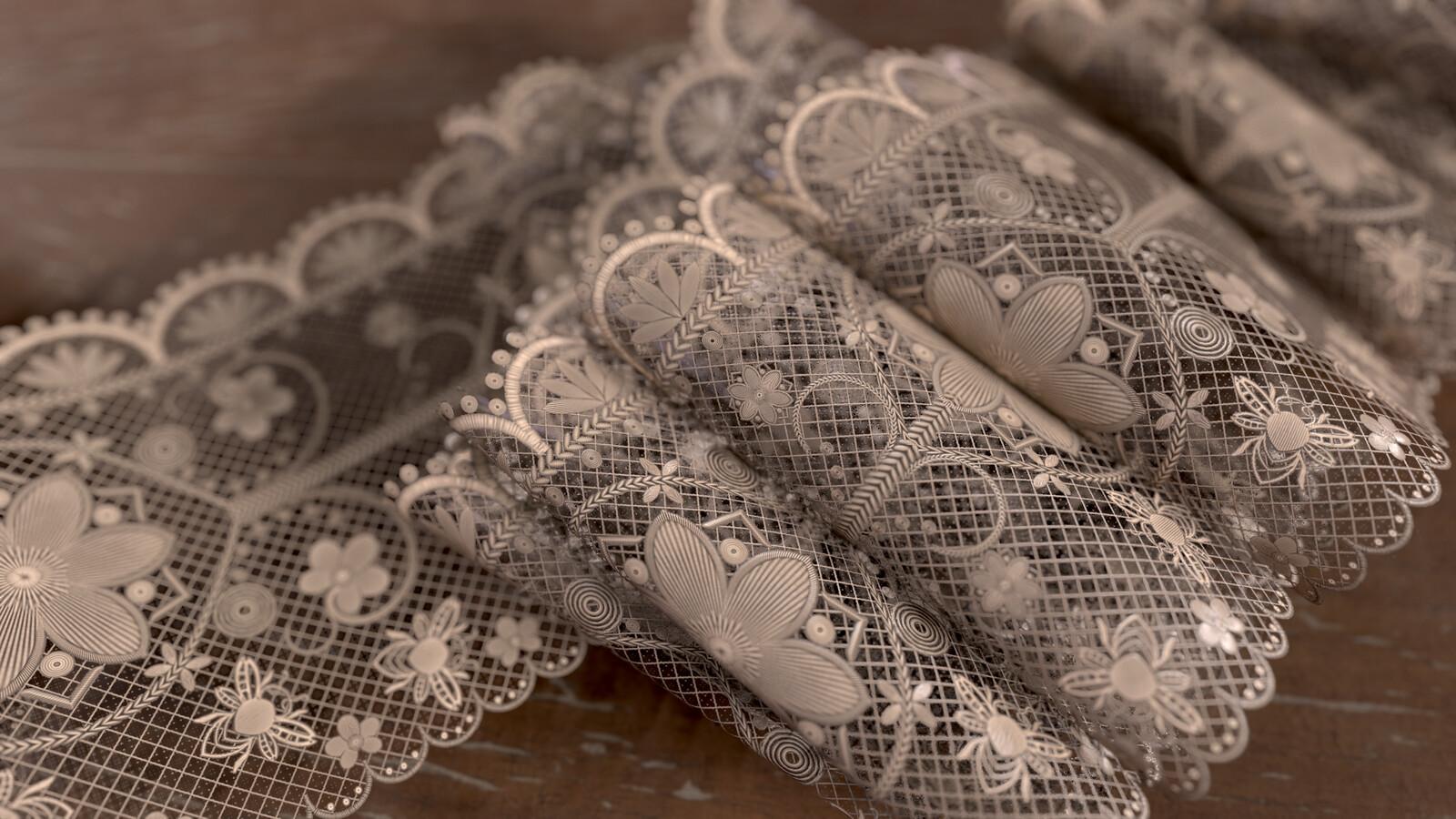 Lace pattern separate render (Marmoset)