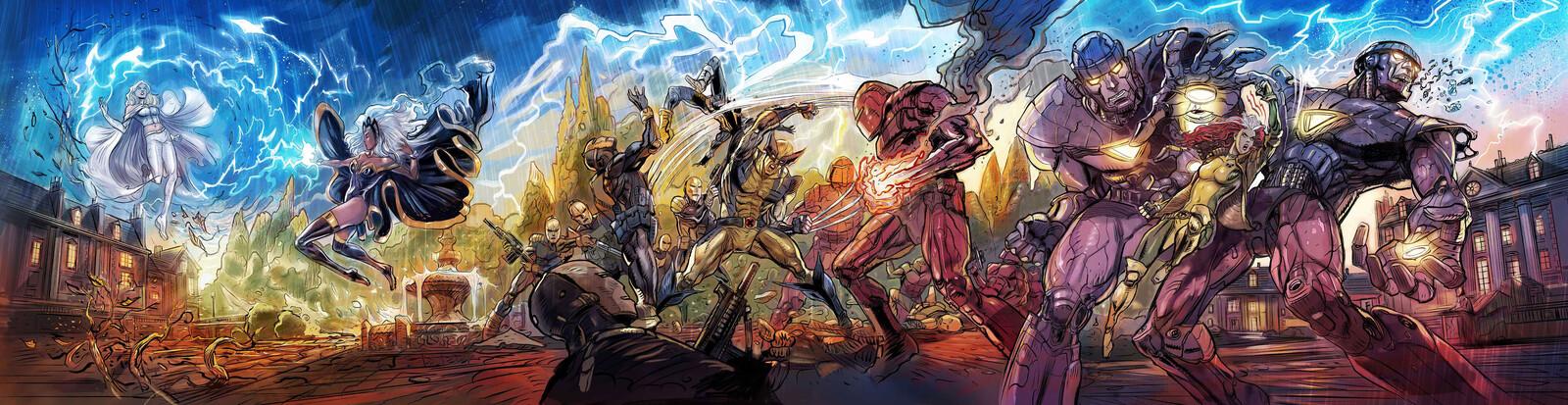X-Men - Mutant Insurrection: Emma Frost Showdown (3 panels)