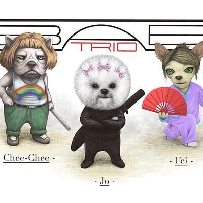 Ben dineen bab trio crypto art