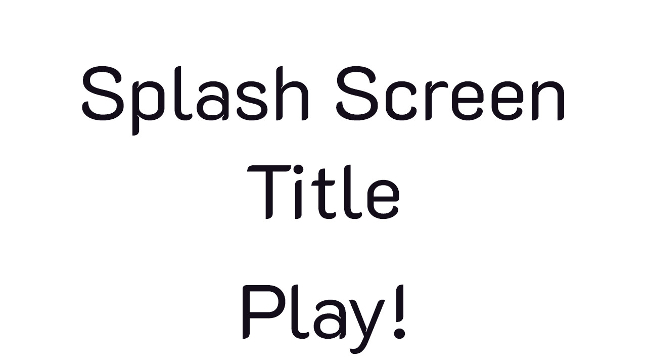 Original wireframe rough for splash/title screen.