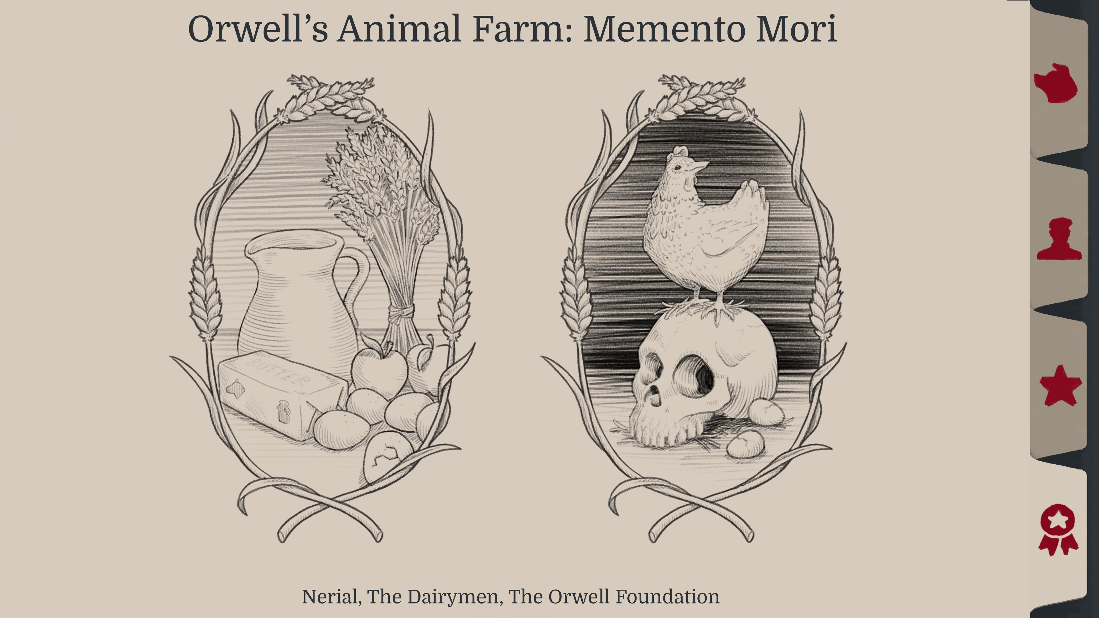 Memento mori illustrations, to balance pages with.