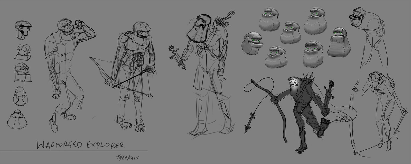 Character explorations, trying hard to maintain dignity of character