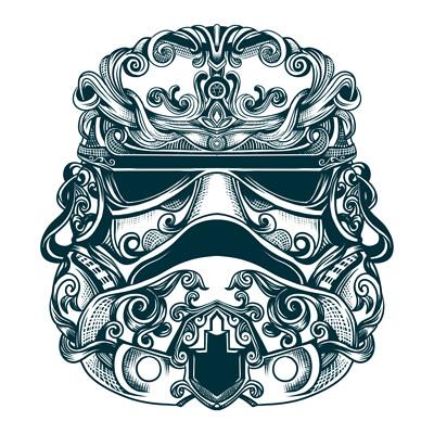 Waterlili helmet design stormtrooper
