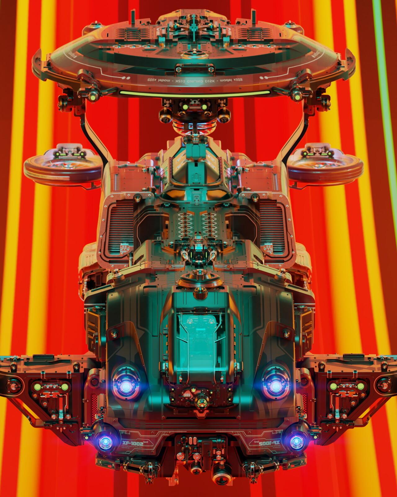 Spaceship ALPHA crop - LightMix R&D session