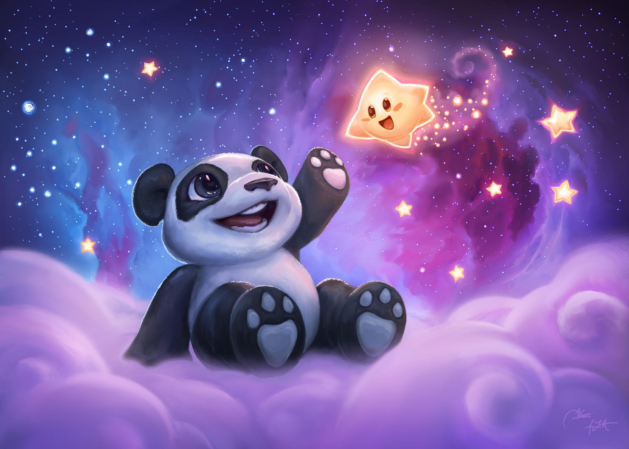 Reach for the stars little panda!