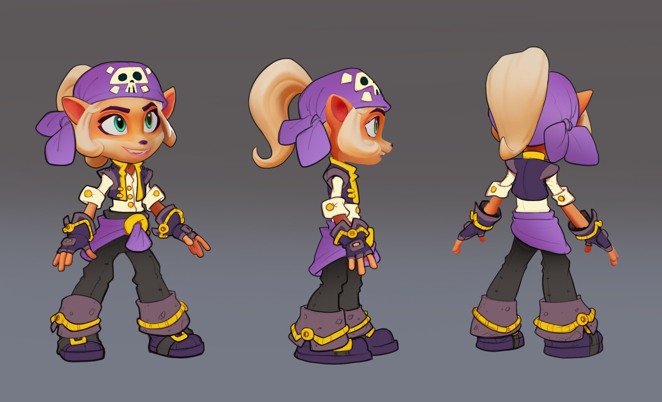 Final Coco Pirate Skin Concept: Minimal rendering requested due to time constraints.