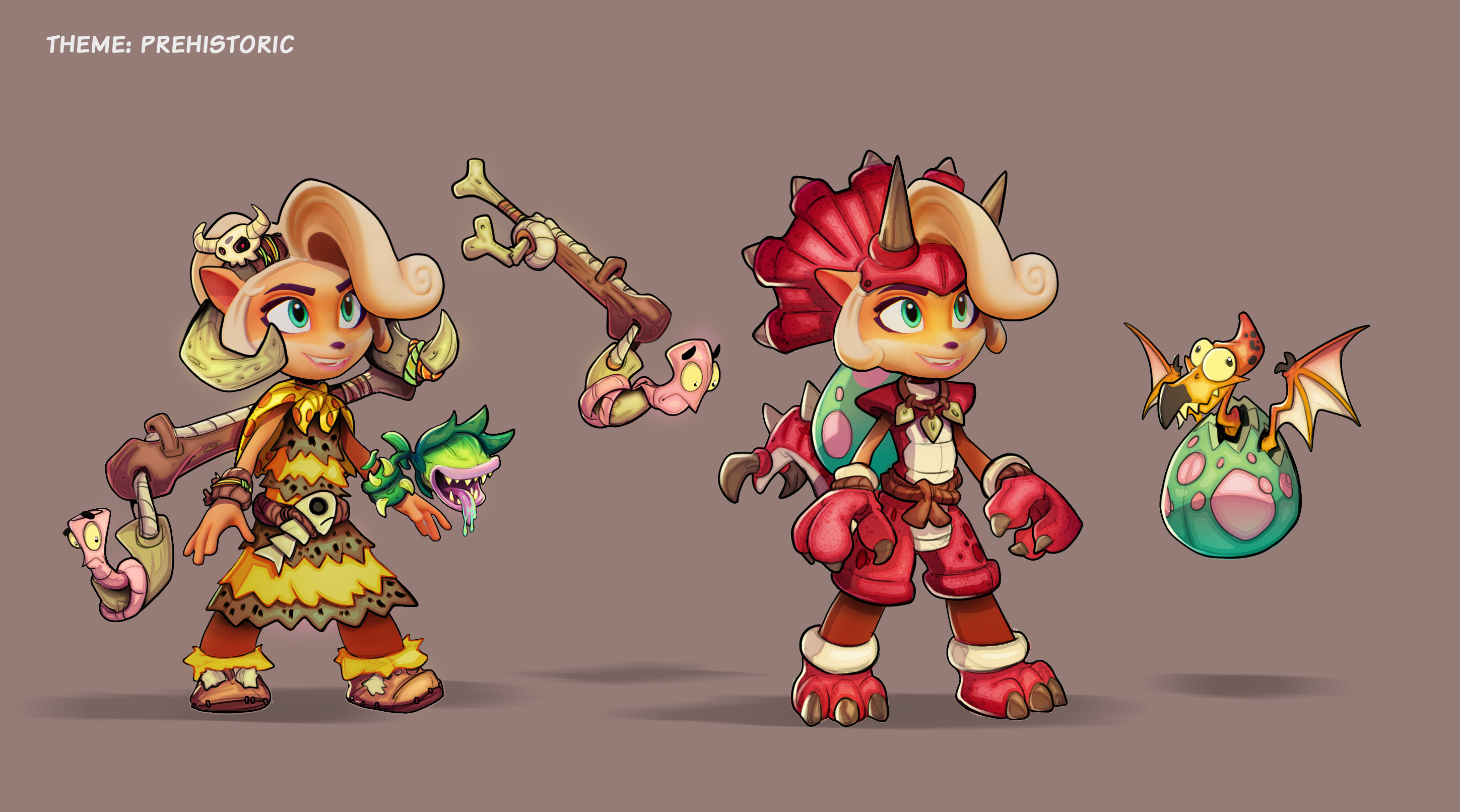 Coco Prehistoric Skins Concept - I really wanted to see a fly trap bracelet in -game.