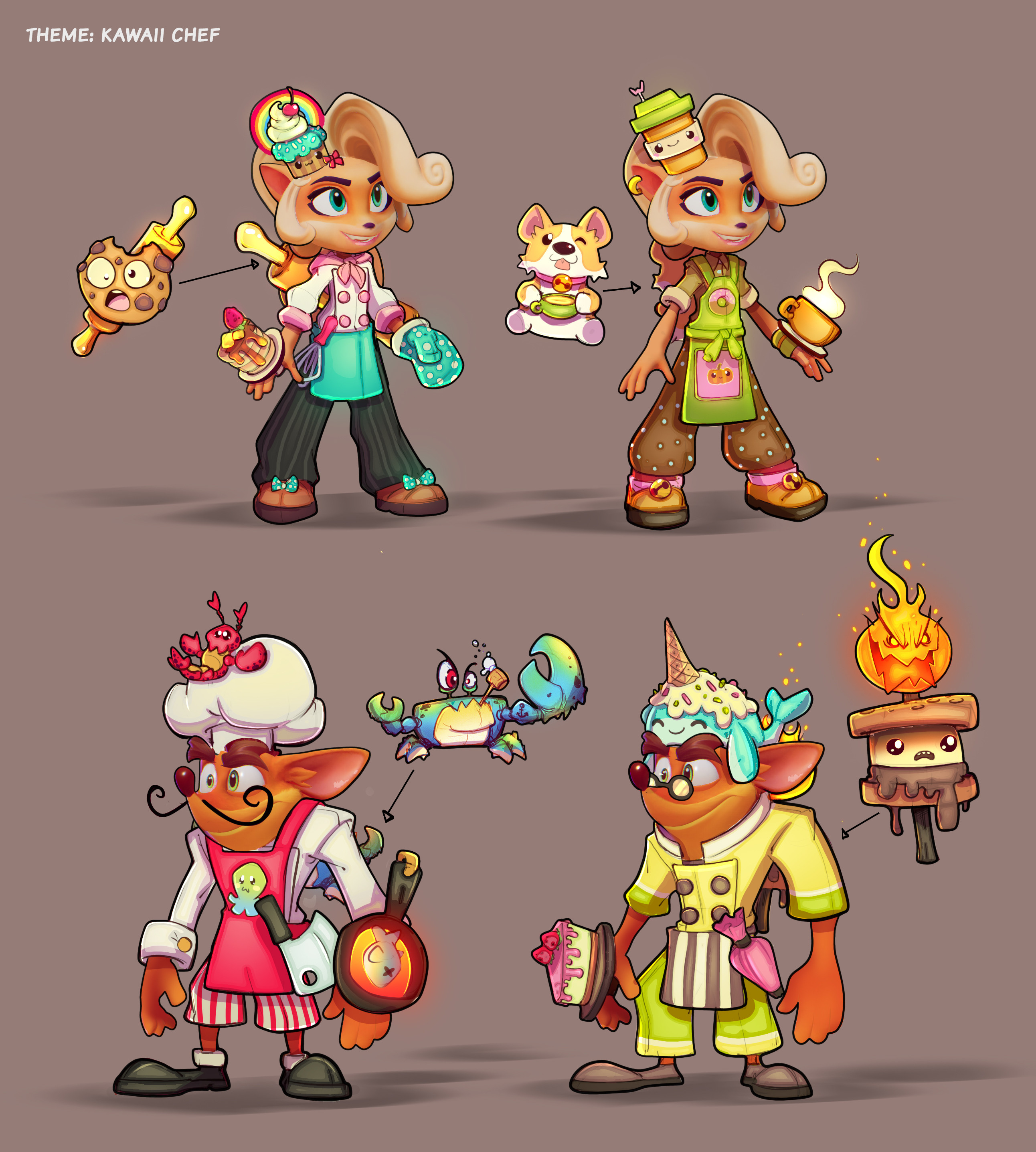 Chef skins ideations. My fav is the corgi.