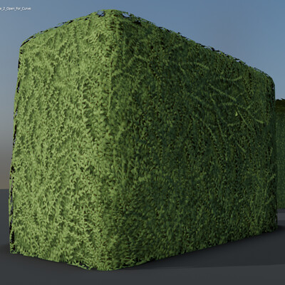 Dennis haupt 3dhaupt boxwood hedge version 2 modeled and textured by 3dhaupt in blender 2 91 4