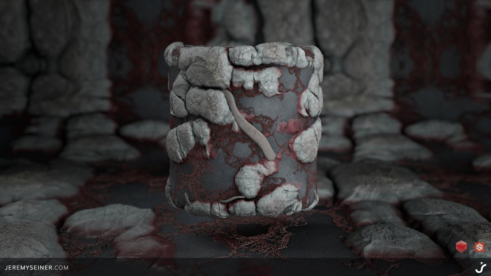 Cylinder rendered in Redshift