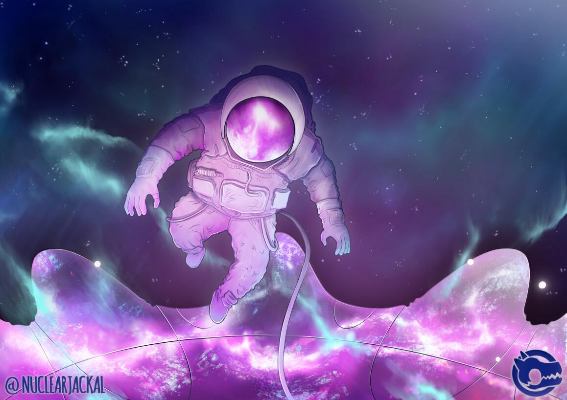 Floating above the Nebula Gateway