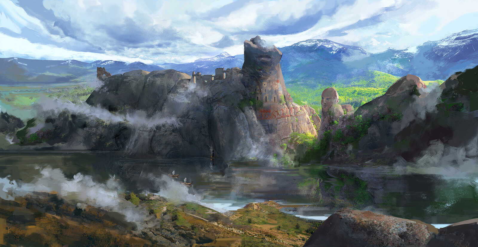 Huge Private commission set in the world of Fragments of the Past :)