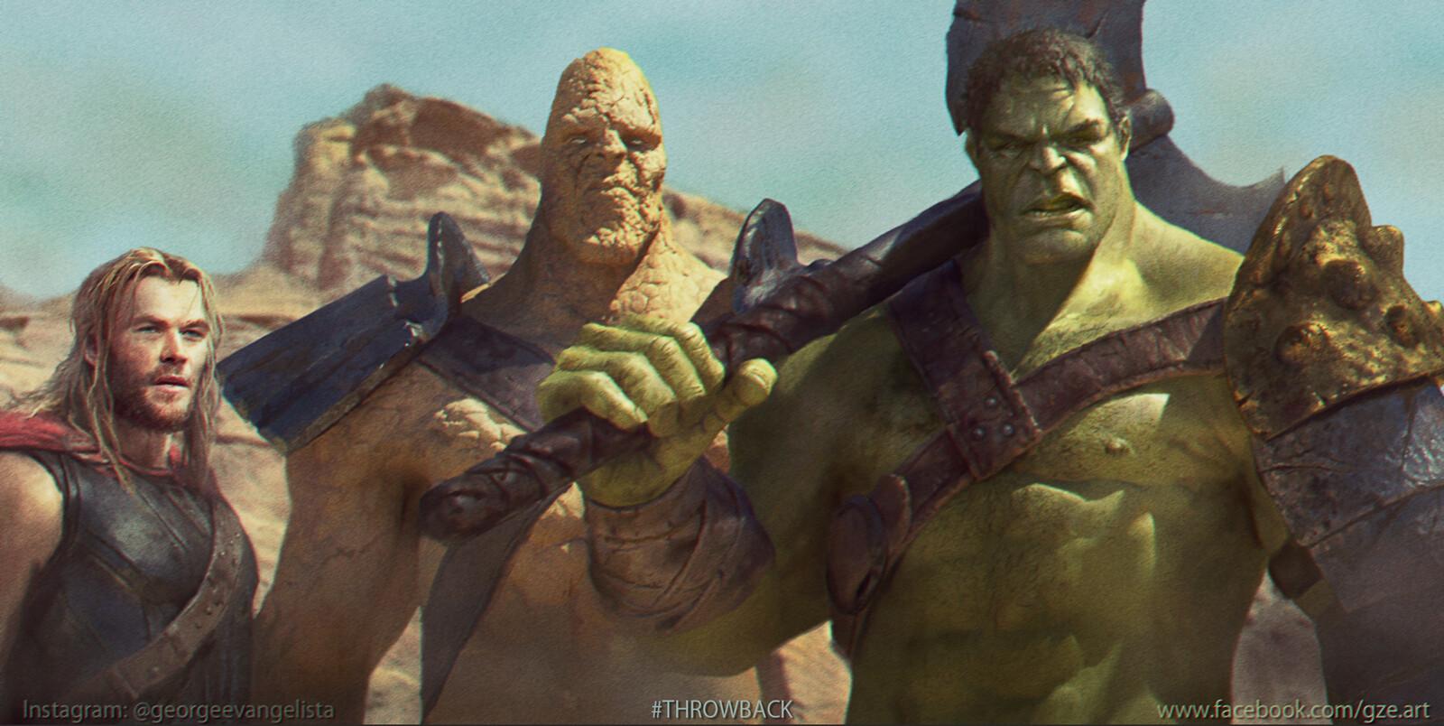 Hulk Thor and Korg