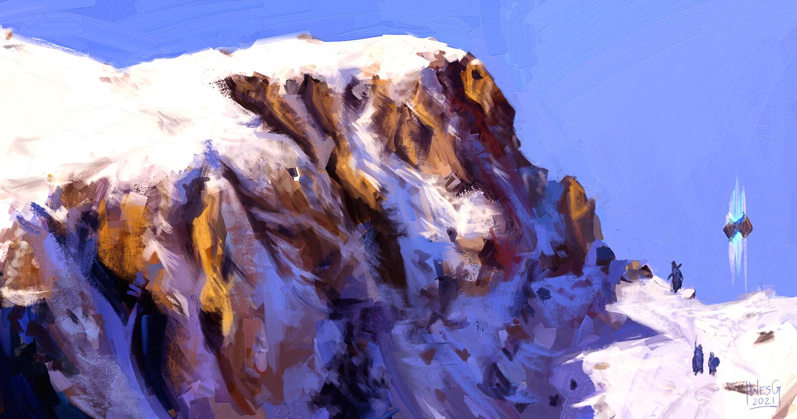 fun Guild Wars 2 style mountain range