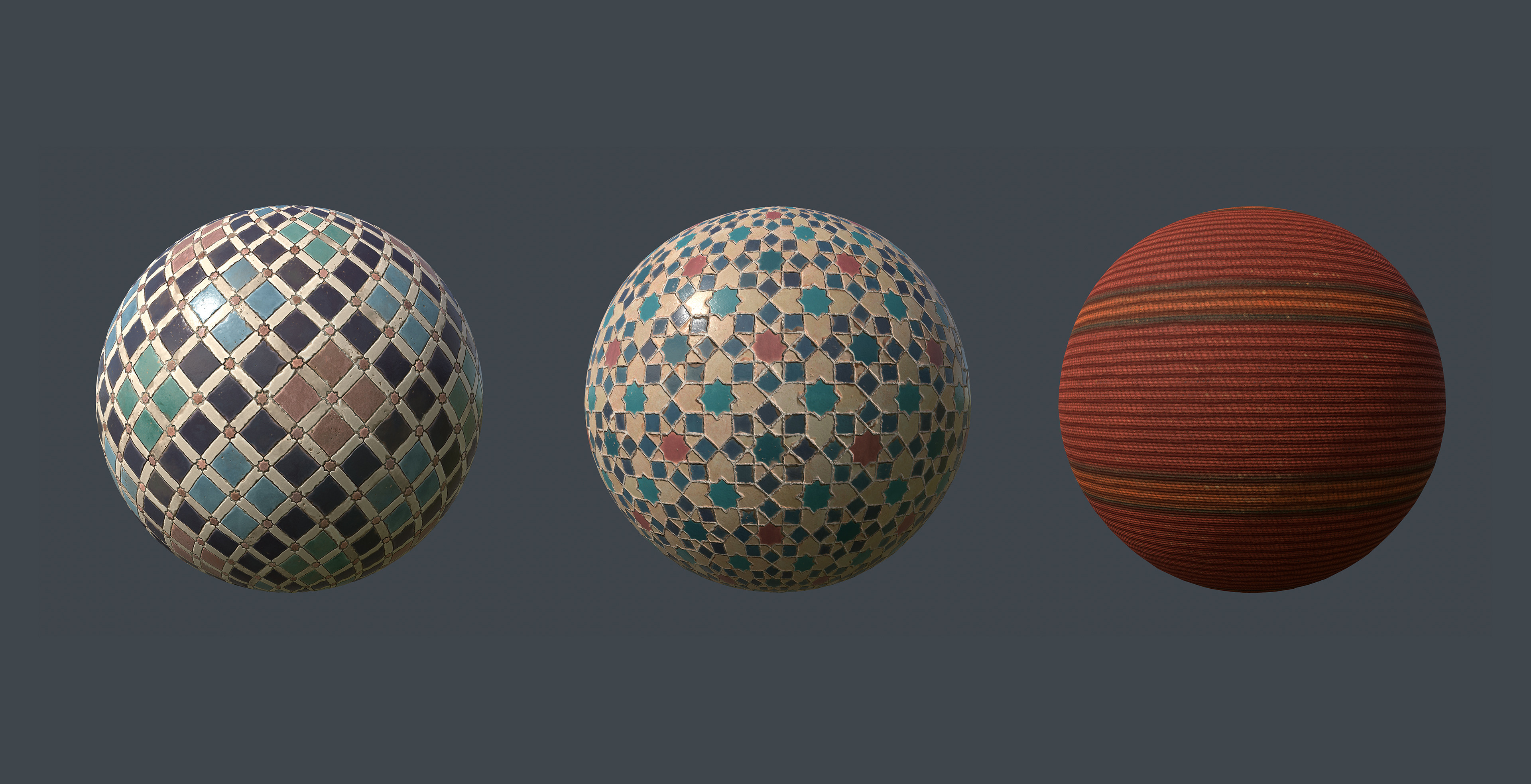 All of the materials were made in Substance Designer. Here are some of them