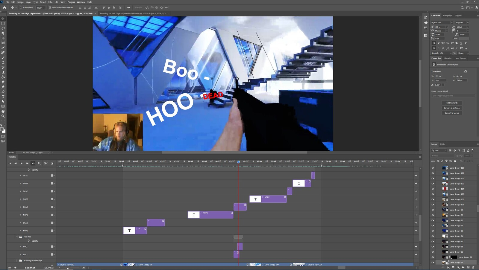 """The """"End of the NOPE Squad"""" visual effect within Photoshop video editor"""