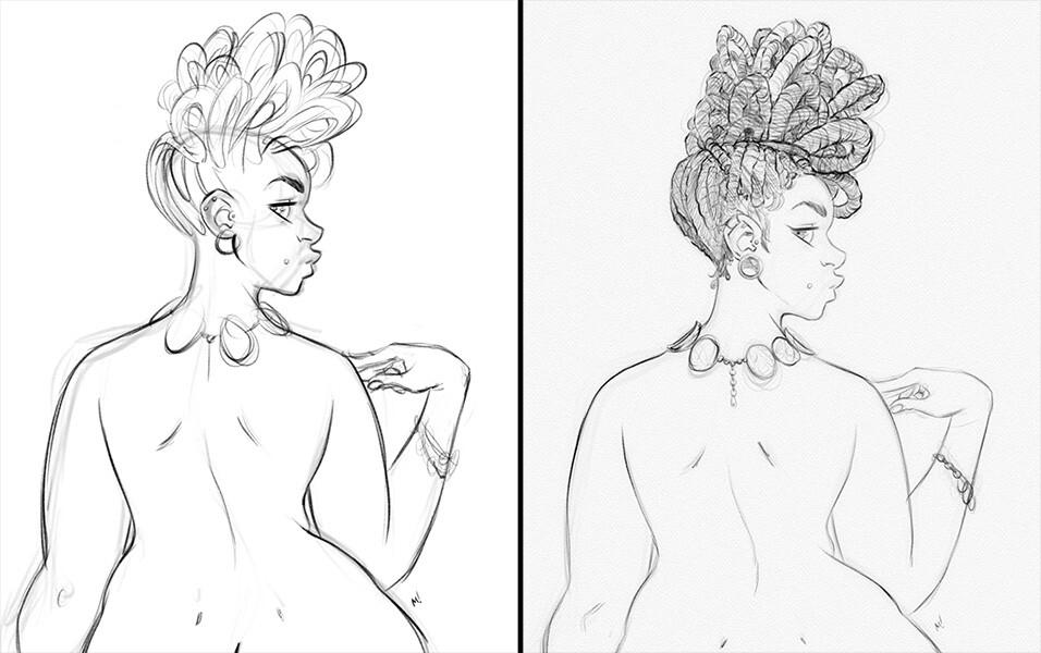 Rough, Sketch