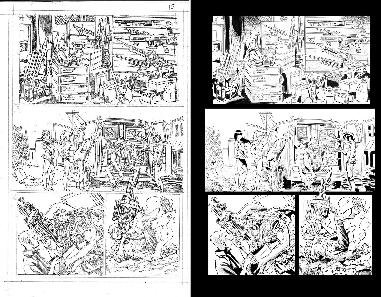 Jughead the Hunger vs Vampironica #4 Pencils by Pat & Tim Kennedy
