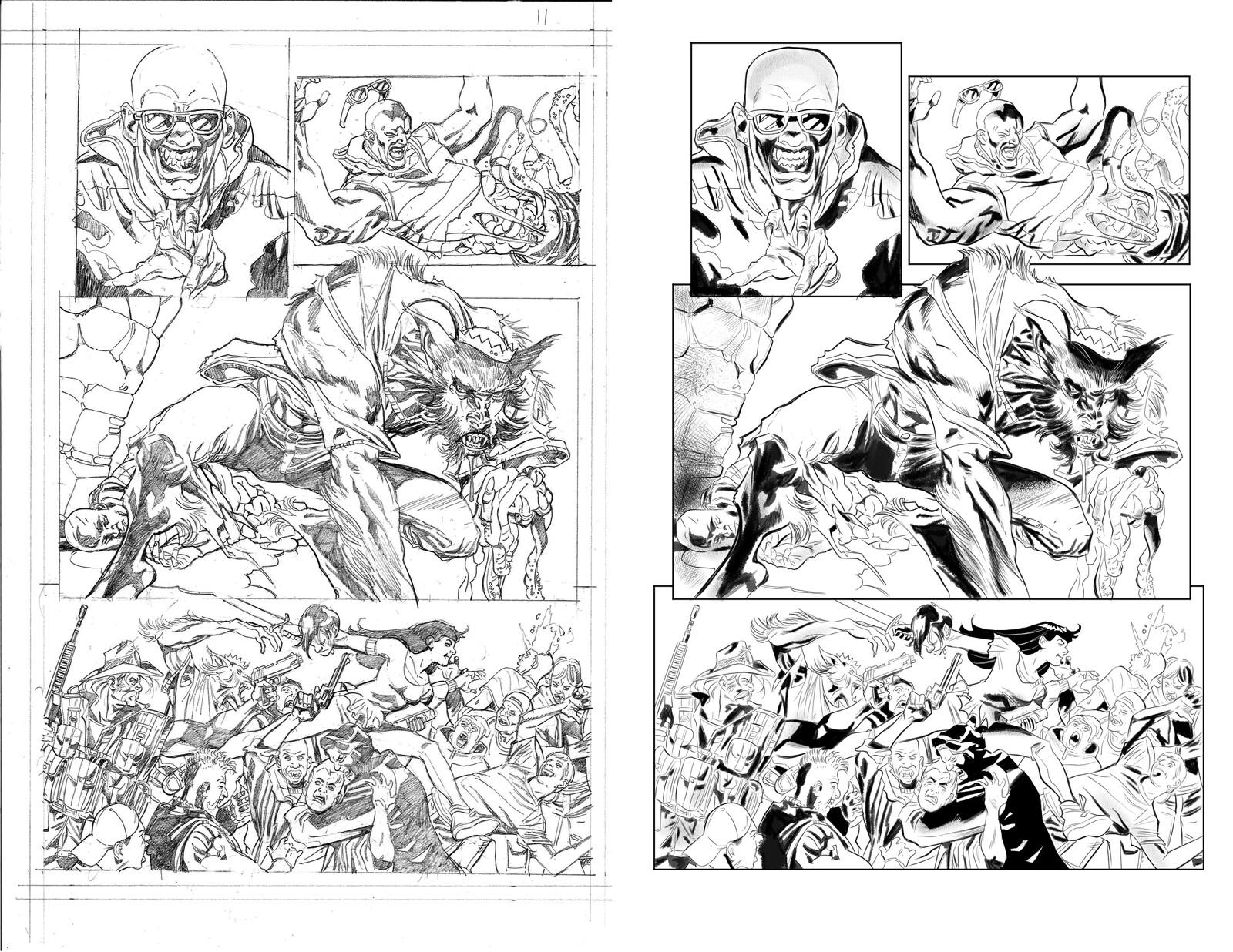 Jughead the Hunger vs Vampironica #5 p 11 Pencils by Pat & Tim Kennedy
