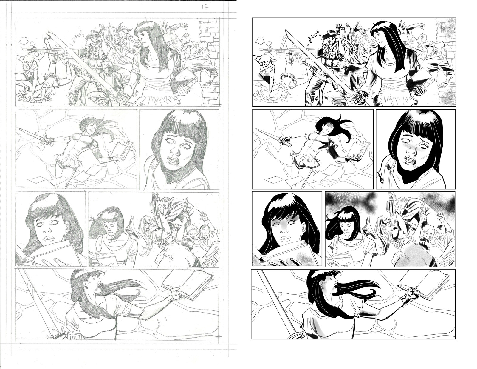 Jughead the Hunger vs Vampironica #5 p 12 Pencils by Pat & Tim Kennedy