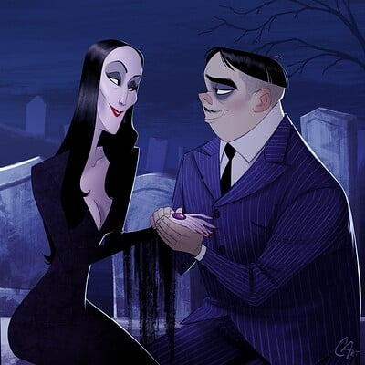 Chris ables gomez and morticia