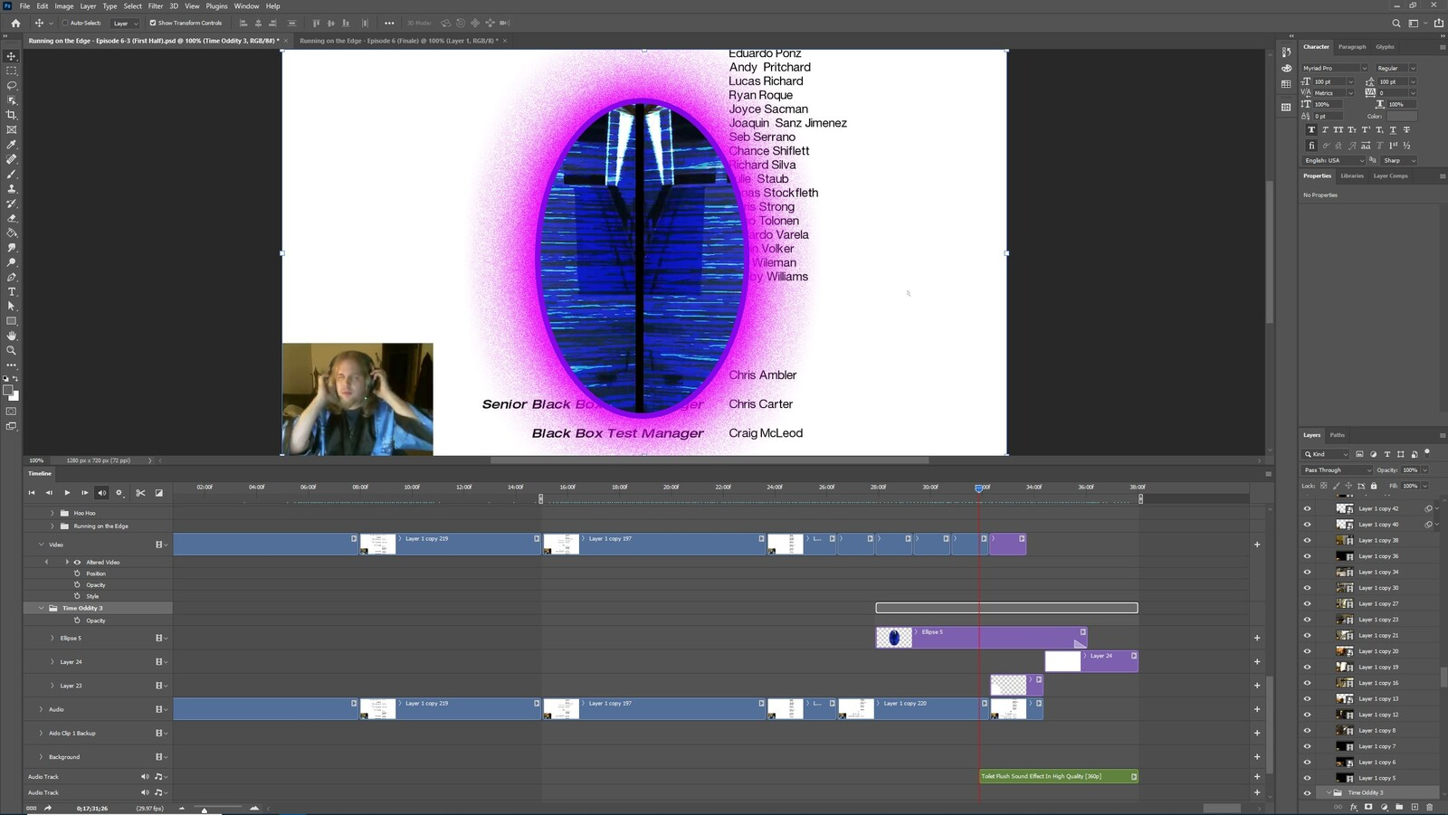 """The """"Time Oddity #3"""" visual effect within Photoshop video editor"""