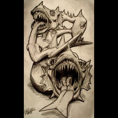 Daniel melendez boelian dubble dragon framed