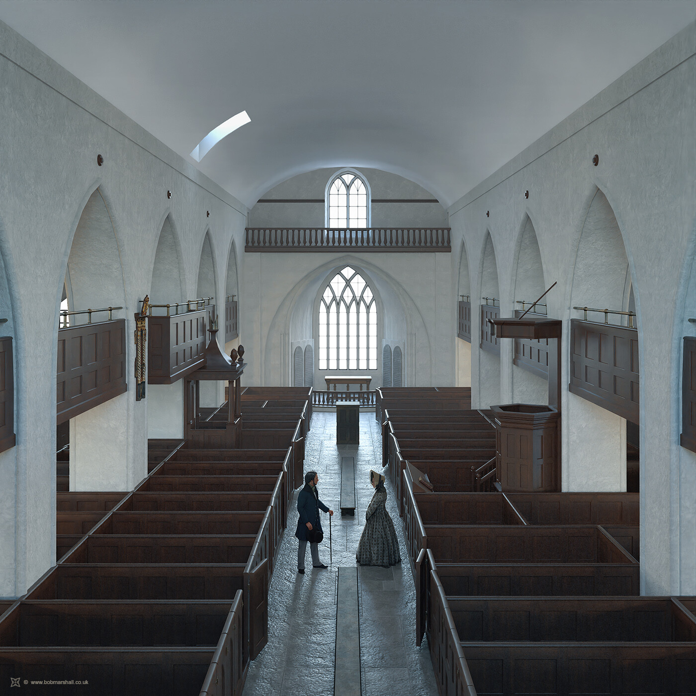Nave Reconstruction (c1800)