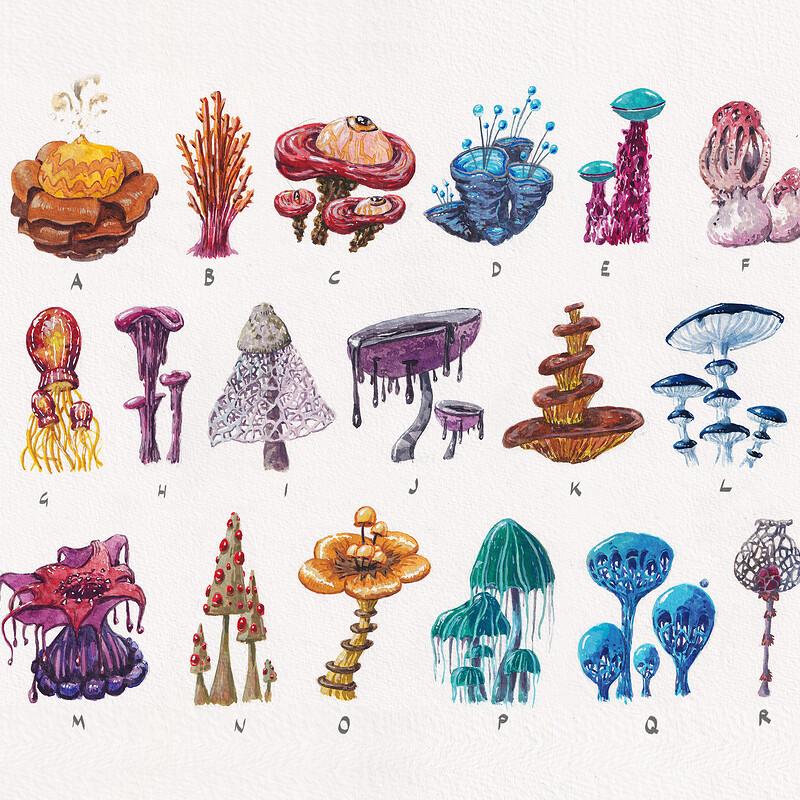Mushroom designs