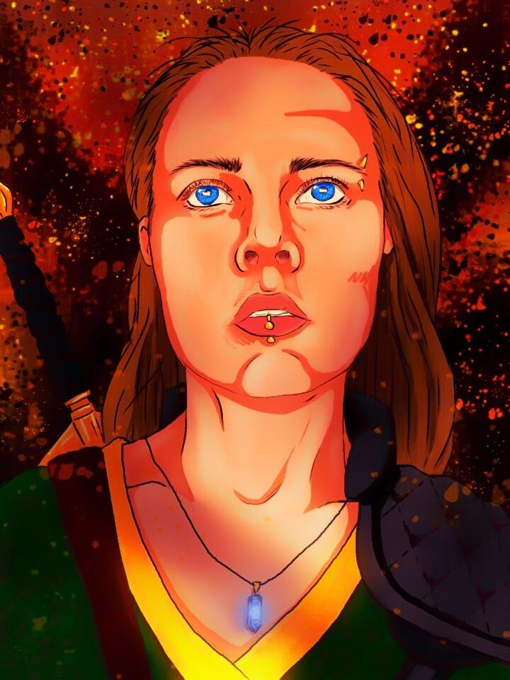 Digital illustration of my friend Shannra