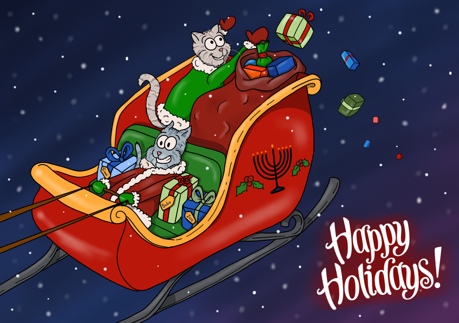 Happy Holidays #005 greeting card