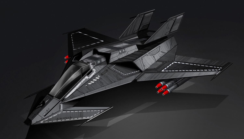 Light stealth fighter jet concept