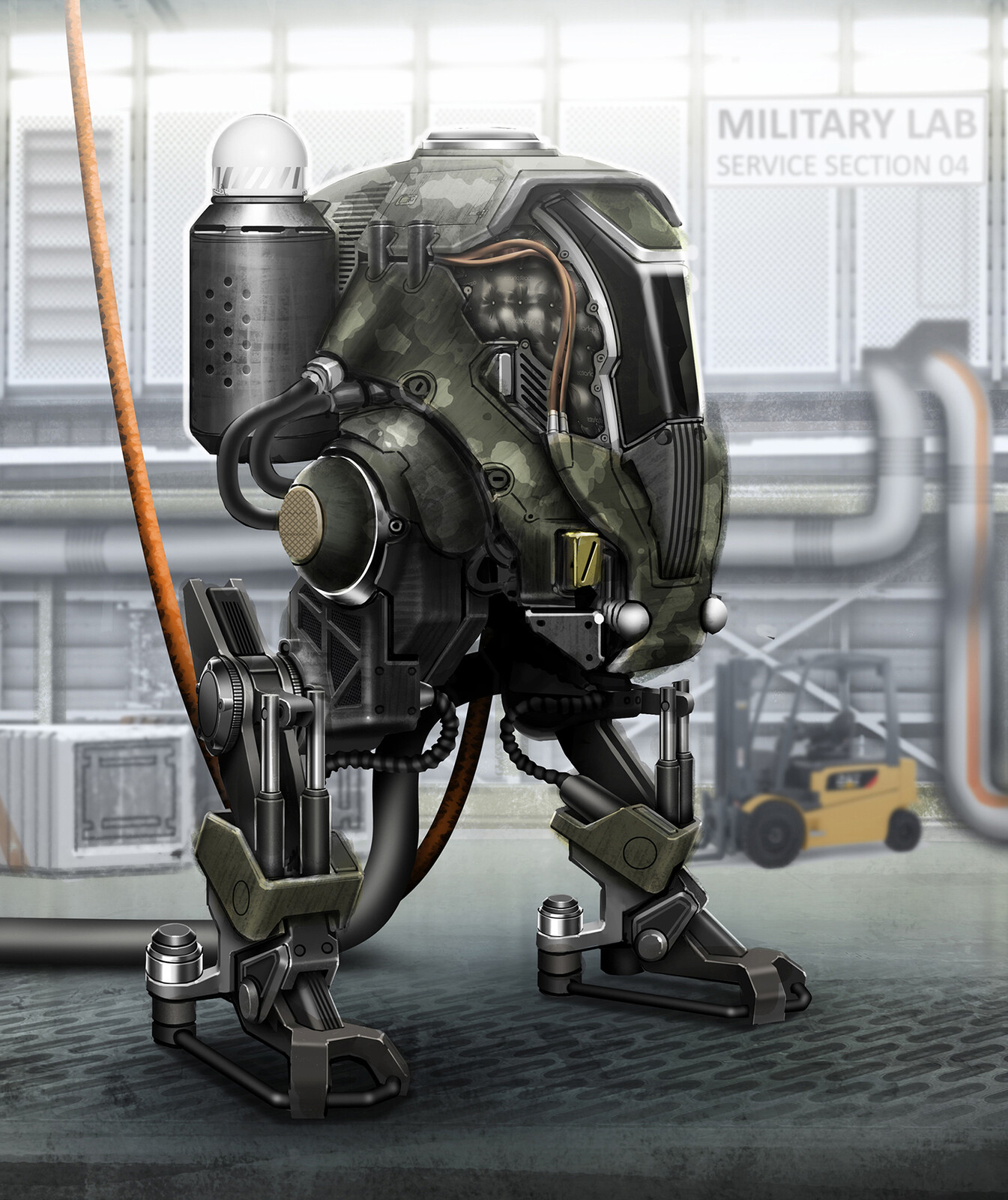 Military scout mech concept