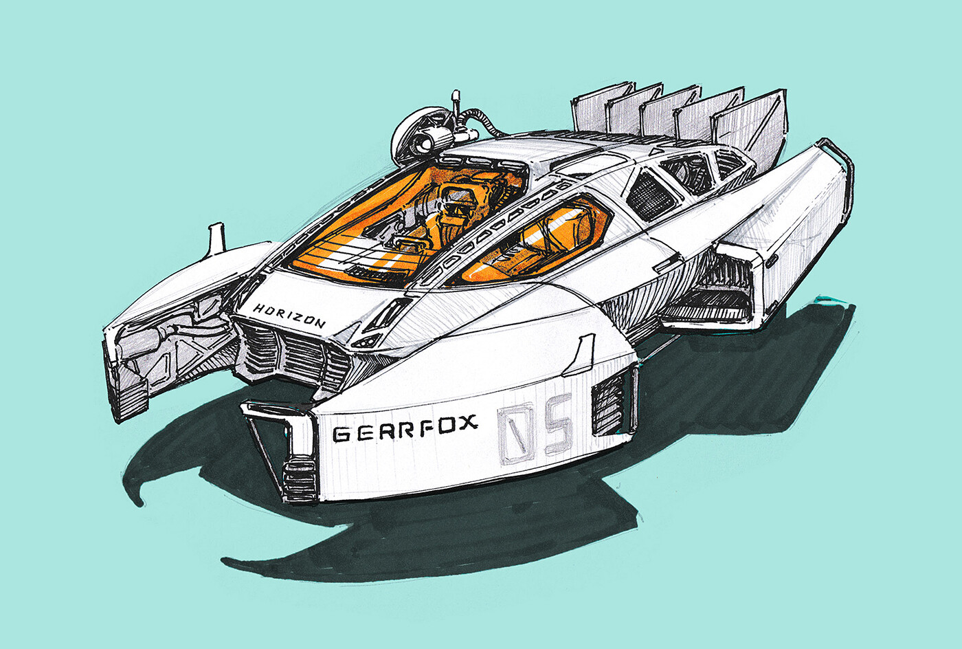 Hovercraft concept - inspired by the movie 'Bladerunner'
