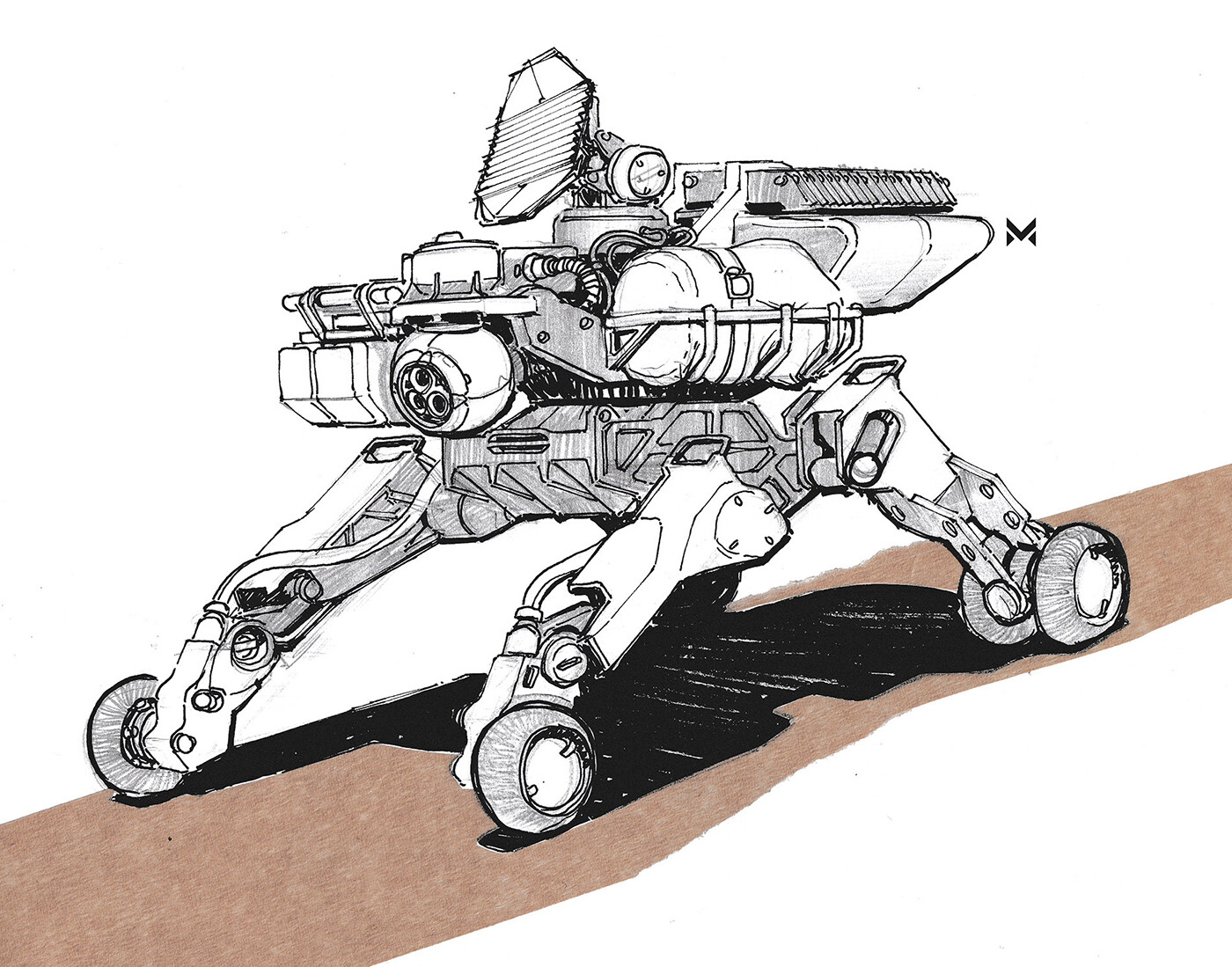 Autonomous exploration rover concept - inspired by the NASA Mars-Rover 'Curiosity'