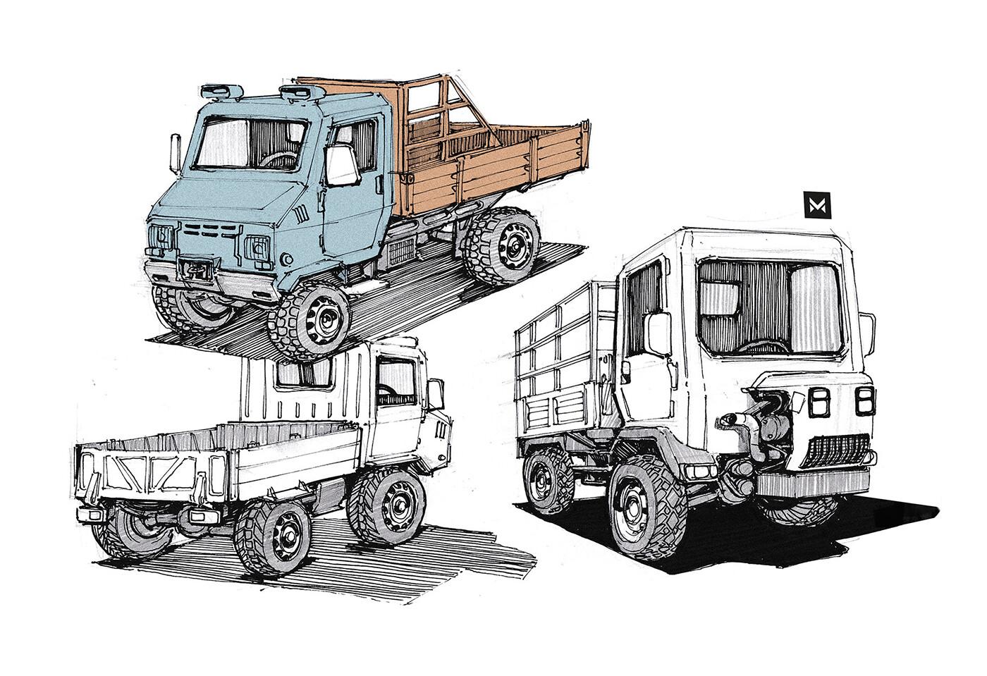 Italien minitrucks - vehicle study