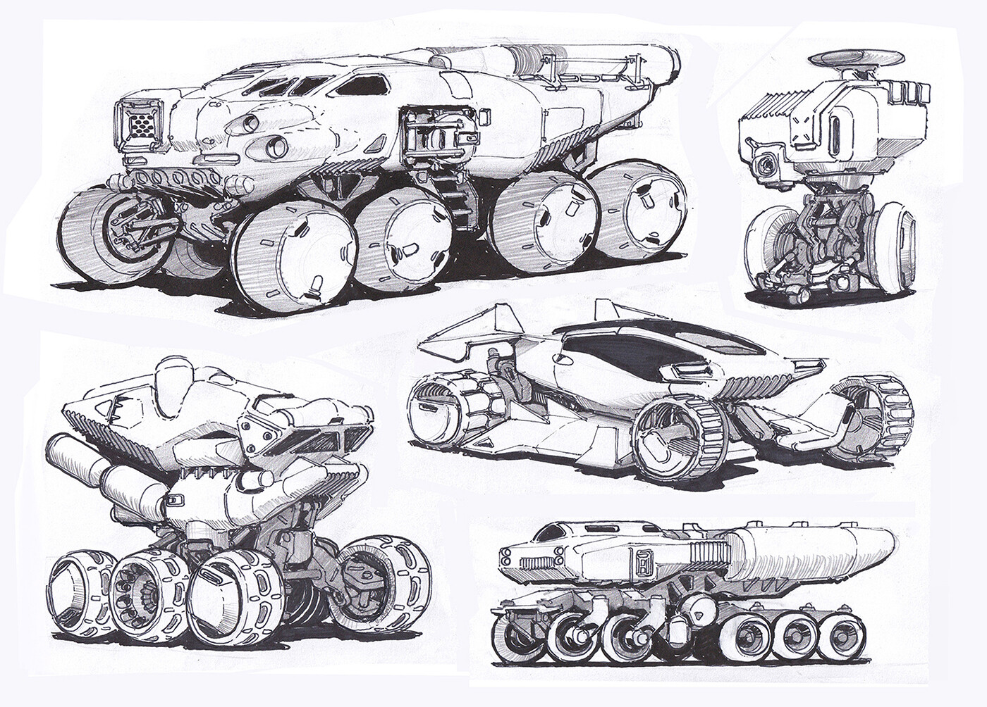 Vehicles concepts with varied axis-counts
