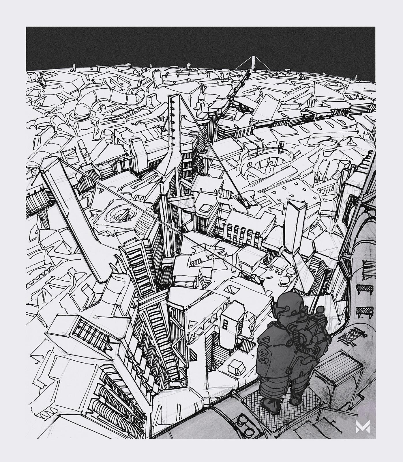 Megastructure-Venture  - inspired by Tsutomu Niheis manga epic 'Blame!'