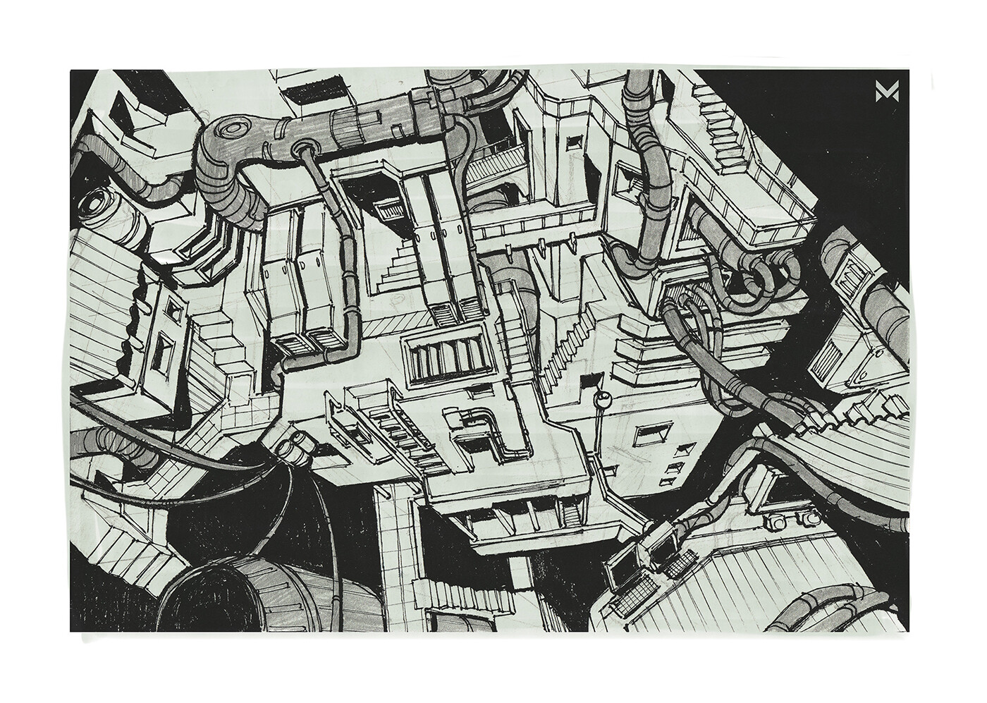City Structures - inspired by Tsutomu Niheis manga epic 'Blame!'