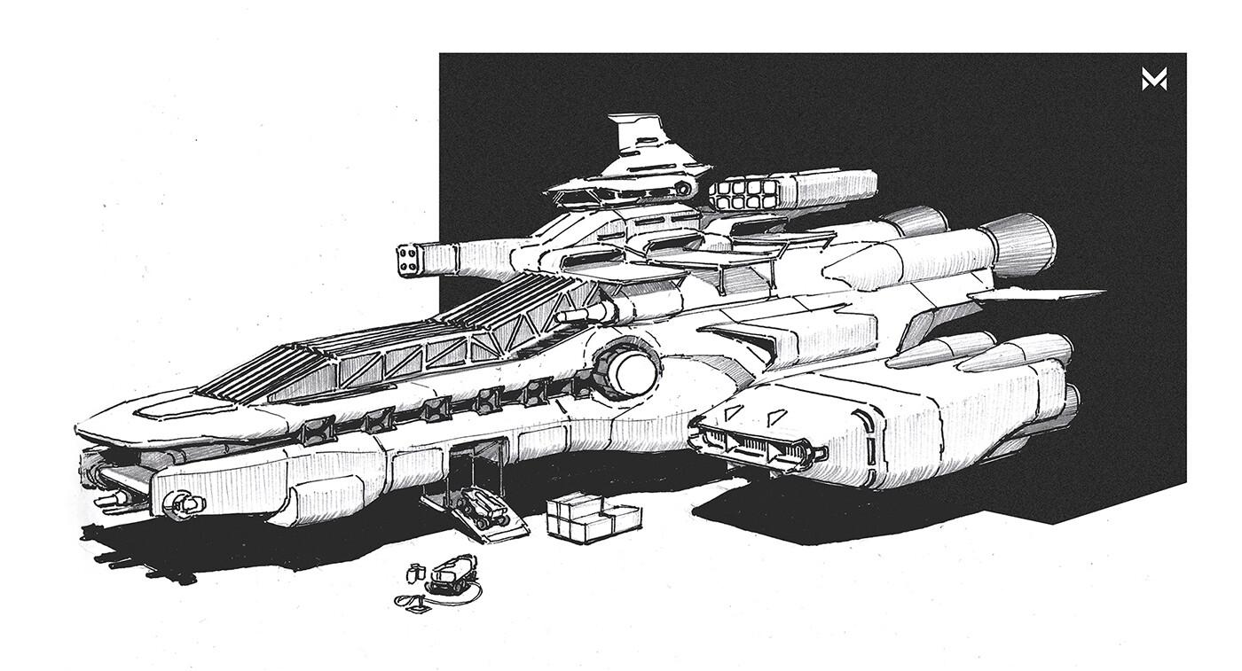 Spaceship 'Catana' - capital class