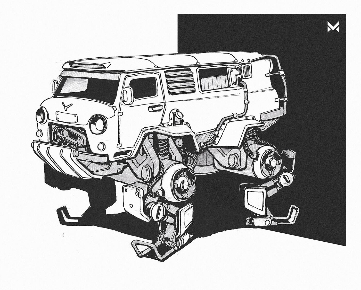 UAZ Mech concept