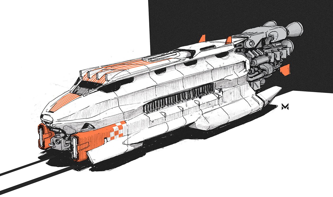 Turbotrain engine concept