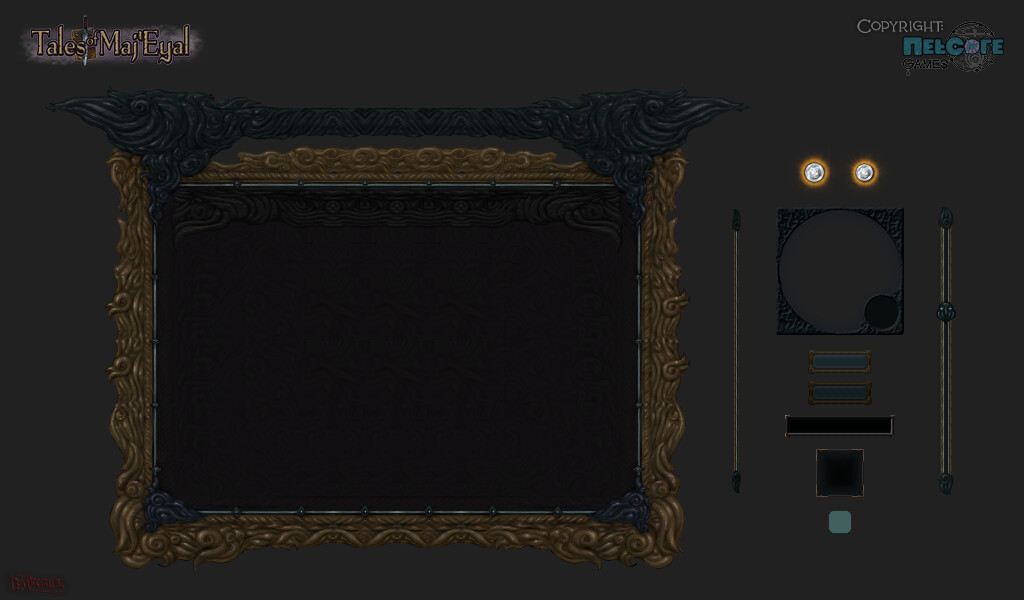 """The """"Nautilii"""" UI, used for the ingame store menu. Lovecraftian baroque nautilus-inspired extravaganza :)"""