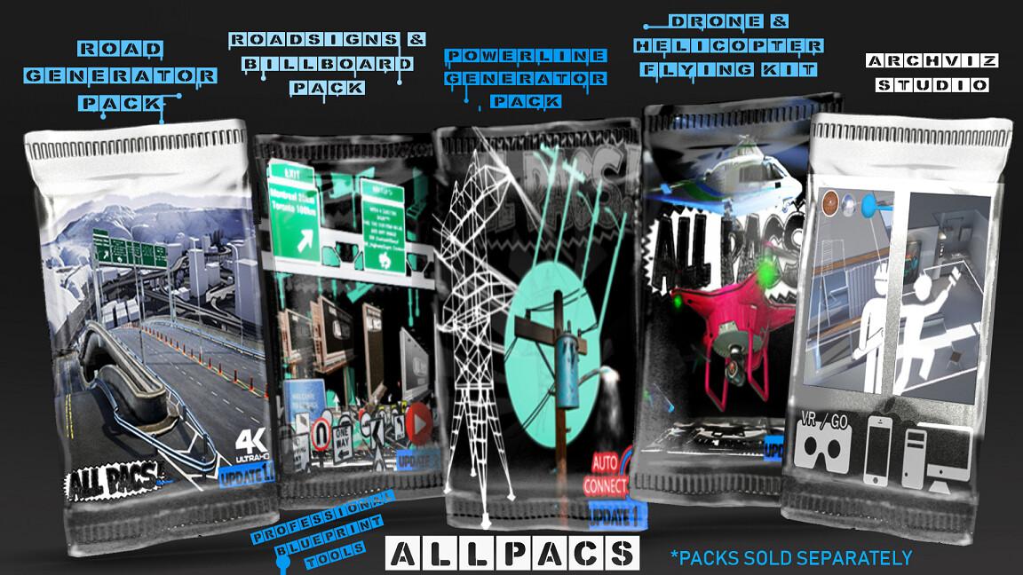 ALL PACKS https://www.unrealengine.com/marketplace/en-US/profile/ALLPACS