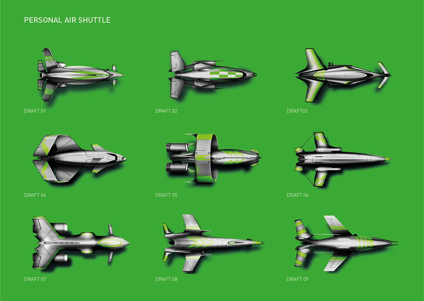 Personal air shuttle - drafts