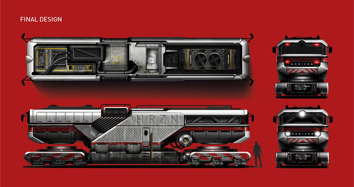 Rail engine - final renderings