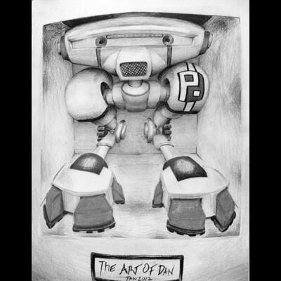 Daniel melendez boelian robot concept 2 2012 jan black and white